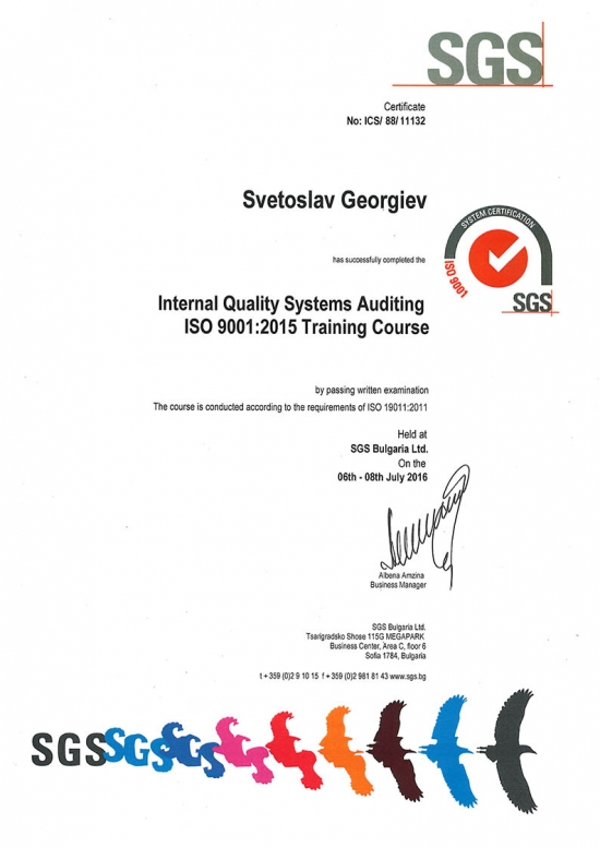 ISO 9001 Training : 2015